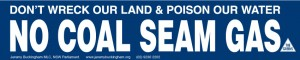 Order No Coal Seam Gas stickers by clicking here