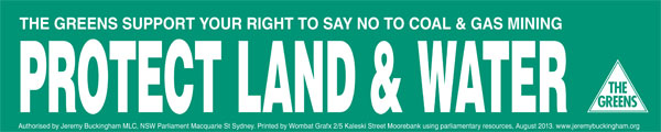 Order Protect Land and Water stickers by clicking here