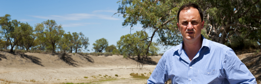 Jeremy Buckingham and dying Darling River horizontal