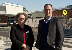 Jeremy Buckingham at Dubbo Hospital with General Manager Debbie Bickerton
