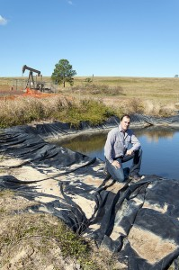 Jeremy Buckingham & fracking pond